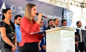 A vice-governadora Claudia Lelis lembrou da importância da união para que se consiga vencer o mosquito