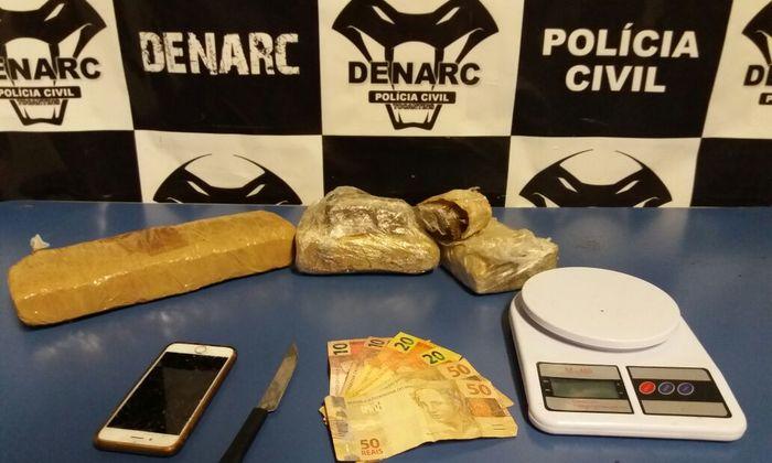 Drogas e Dinheiro apreendidos pela Denarc em Palmas