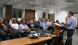 Secretário da Agricultura Clemente Barros fez a abertura do curso que é direcionado a extensionistas rurais no auditório da Embrapa