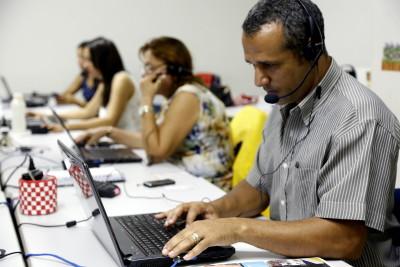 Weber Ferreira, técnico responsável pela central de matrícula, fala das facilidades do sistema