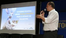 Ricardo Barros apresentou as medidas adotadas nos 200 primeiros dias de sua gestão à frente do Ministério, reafirmando a liberação de recursos da ordem de R$ 68,2 milhões para a saúde do Tocantins, já publicados em Diário Oficial