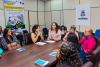 Secretária Patrícia do Amaral dá boas vindas aos primeiros gestores a serem orientados.