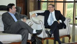 Primeira visita do executivo da Energisa ao governador depois de assumir a empresa em dezembro de 2016,  ocorreu nesta segunda-feira, 16