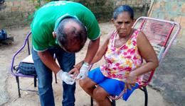 Maria de Jesus Borges fez teste rápido em visita de técnicos do Estado e municipais em Araguatins