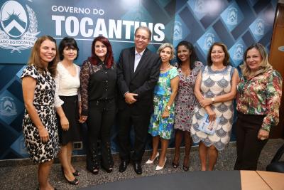 Governador Marcelo Miranda e parte da equipe que articulou a reestruturação do programa