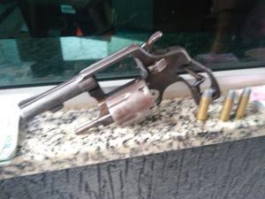 Arma utilizada no roubo aos Correiros