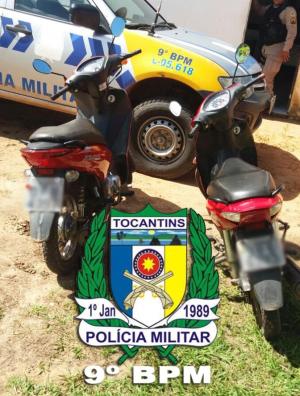 PM prende dois homens e recupera 2 motos