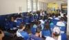 Durante as ações do Carnaval do Bem, os alunos receberam palestra sobre o risco do uso de drogas