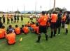 Árbitros, árbitros assistentes, assessores da arbitragem durante evento realizado no ano passado no campo da Escolinha do Cruzeiro