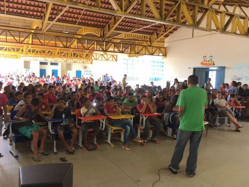 Em Paraíso, a mensagem de prevenção foi levada aos estudantes por meio de palestras