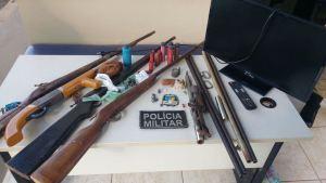 Em Araguatins PM localiza oficina de armas de fogo no fundo de residência._300.jpg