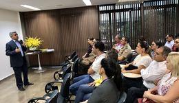 Secretário-chefe da CGE, Luiz Antonio da Rocha, deu boas-vindas aos interlocutores de Ouvidoria dos órgãos e entidades, aos administradores do Serviço de Informação ao Cidadão (SIC) e a todos os presentes