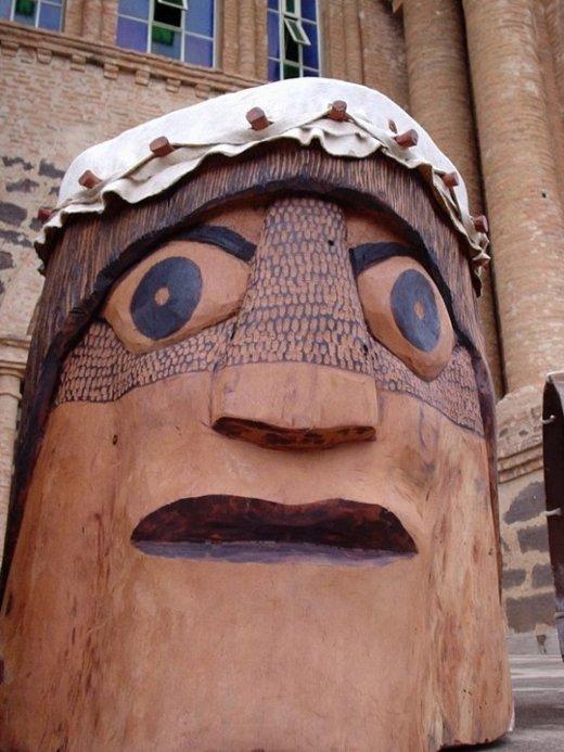 Instrumentos típicos da cultura tocantinense produzidos pelo projeto Tambores do Tocantins