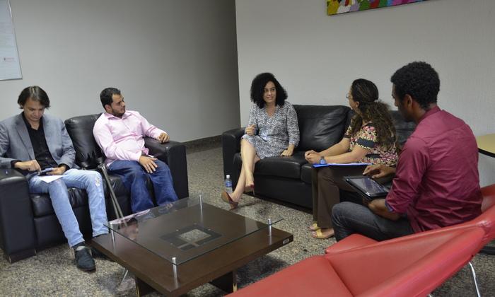 Secretária Gleidy Braga recebeu representantes do Cepir para tratar das pré-conferências.