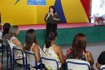 Durante a visita, a secretária destacou o empenho da equipe nas adequações da escola