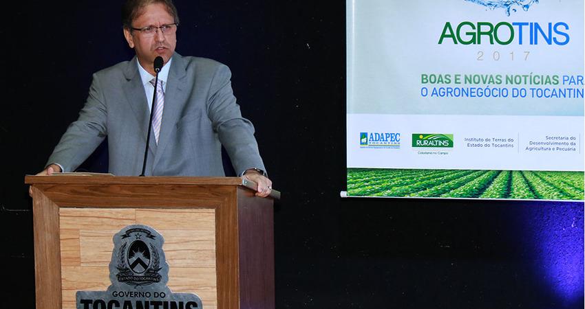 Marcelo Miranda destacou a importância da cadeia produtiva do agronegócio e da Agrotins, ressaltando que a Feira vai dar a resposta de que o Estado possui condições de abastecer o Brasil e o mundo