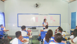 Estudantes da Escola Estadual Ana Macedo Maia