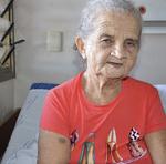 A aposentada Francisca de Jesus da Silva, de 72 anos, veio de Araguaína para realizar a cirurgia no quadril
