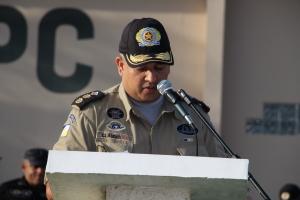 Comandante do 1º BPM tenente coronel Cláudio.
