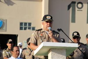 Coronel Glauber elogia o esforço dos militares da unidade e agrade aos parceiros.