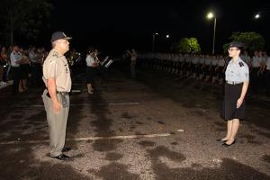 Apresentação do corpo de aluno ao Comandante Geral da PM.