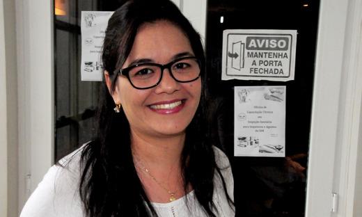 Euzápia Dicla Ramos também vê o treinamento como uma oportunidade oferecida aos municípios