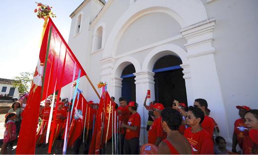 As folias anunciam a presença do Espírito Santo em suas diversas manifestações