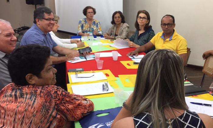 Durante o encontro, os conselhos estaduais debatem temas como a BNCC e o novo ensino médio