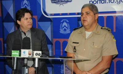 O sub-secretário da Segurança Pública, Abzair Paniago, e o comandante-geral da Polícia Militar, coronel Glauber Santos enfatizaram a união das polícias Civil e Militar e o trabalho em equipe pela segurança pública