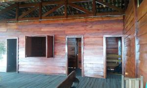 Base possui uma área de 256 m², construída em madeira, produto resultado de transporte ilegal