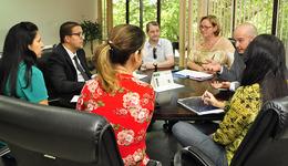 Em reunião com os servidores nessa quinta-feira, 27, o secretário Geferson Barros (de terno preto) destacou que vai trabalhar pela reestruturação da Pasta