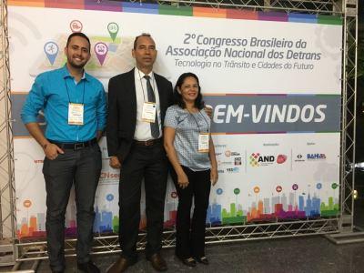 Heurran Carlos, Cel Eudilon Donizete e Cleide Morais no II Congresso Brasileiro da AND em Salvador