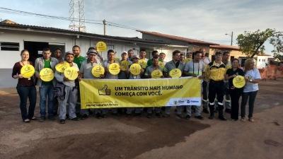 Equipe da Ciretran de Araguaína em Palestra na empresa Odebrecht