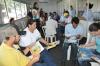 Nas oficinas os participantes passam por aulas práticas e teóricas associadas a cinco dinâmicas de grupos