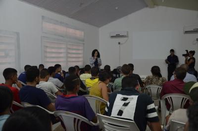 Secretária Gleidy Braga agradece aos representes das entidades pela integração às atividades do Socioeducar.