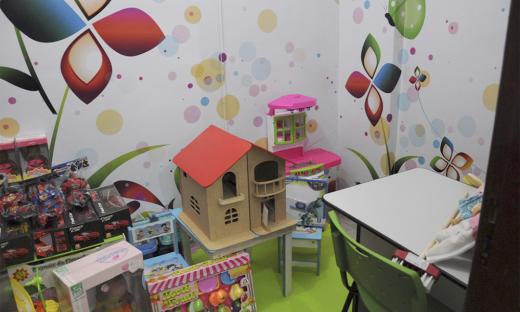 As crianças encontrarão no novo espaço um ambiente aconchegante e apropriado para seus atendimentos