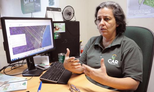 Maria Amélia Fernandino, gerente do CAR, disse que quem está sem cadastro agora são aqueles proprietários que não acessam o serviço público frequentemente ou que ficam isolados lá na sua propriedade