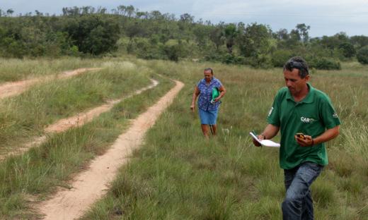 Técnicos da Semarh foram a campo levar informações sobre o CAR para os proprietários rurais