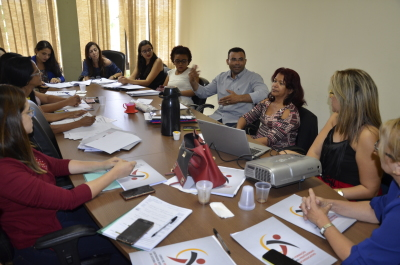 Chefes e técnicos das oito Unidades Socioeducatiovas do Estado debatem instrumentais.