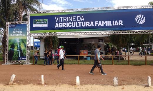 A Vitrine da Agricultura Familiar, na Agrotins, a cada ano traz como proposta ser o local onde o agricultor familiar irá encontrar tecnologias ideais para o desenvolvimento da sua produção
