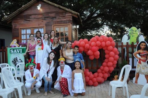 Atividades seguiram ao longo do dia realizadas pela equipe do Savi e da Ludoteca no Hospital Infantil de Palmas (HIP)