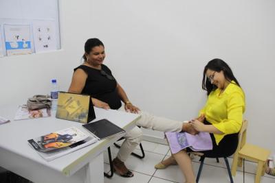 Maria do Bonfim diz que o ambiente é agradável e acaba com o estresse