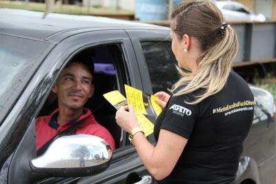 O Movimento Maio Amarelo é realizado mundialmente e tem como finalidade alertar sobre os riscos de acidentes de trânsito