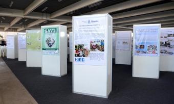 Cerca de 400 trabalhos científicos foram inscritos e apresentados eletronicamente e em banners exibidos no evento