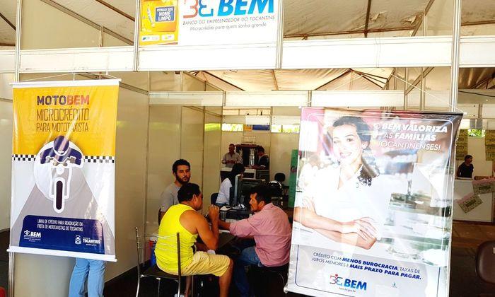Nesta primeira edição do evento, o BEM atendeu nos dois estandes localizados na avenida JK e em Taquaralto
