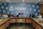 A reunião, realizada no Palácio Araguaia, foi coordenada pelo secretário de Estado de Articulação Política, João Emídio, e pelo deputado licenciado Ricardo Ayres, secretário Municipal de Desenvolvimento Urbano, Regularização Fundiária e Serviços Regionais