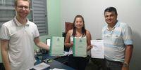 Convite e Entrega do Diagnóstico junto a Prefeitura de Santa Maria do Tocantins, na pessoa da chefe do Controle Interno Suane Pereira de Morais.