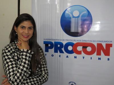 Lilliane de Moura Borges, técnica em Educação para o Consumo do Procon-TO