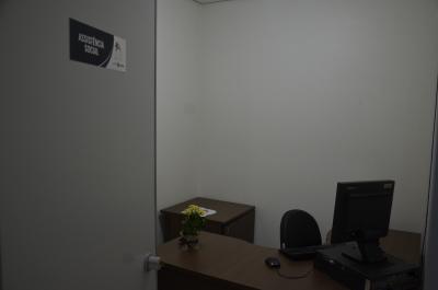 Sala de atendimento de Assistência Social (Núcleo Acolher)