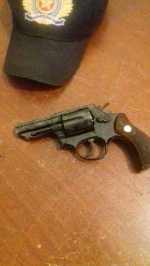 Arma apreendida pela PM em Monte do Carmo.